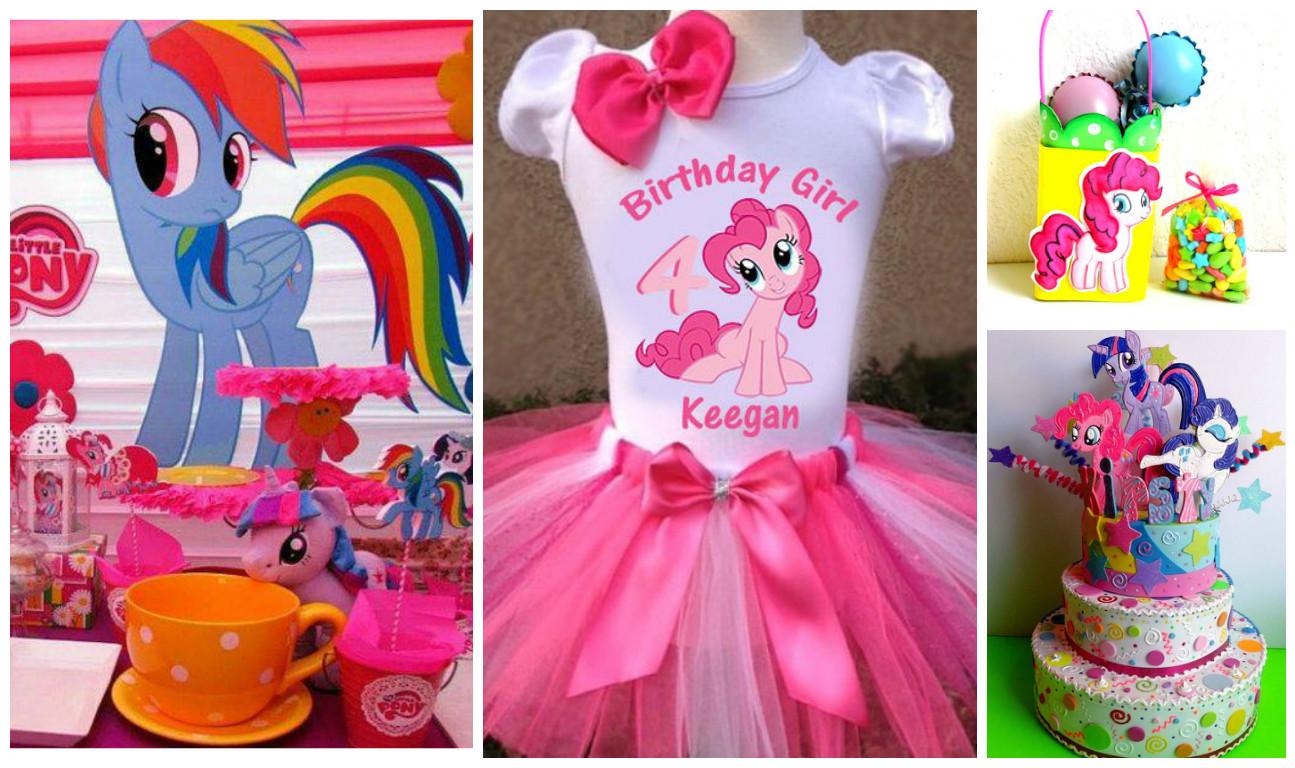 ec6ddfefc9 Ideas increíbles para una decoración de cumpleaños de little pony ...