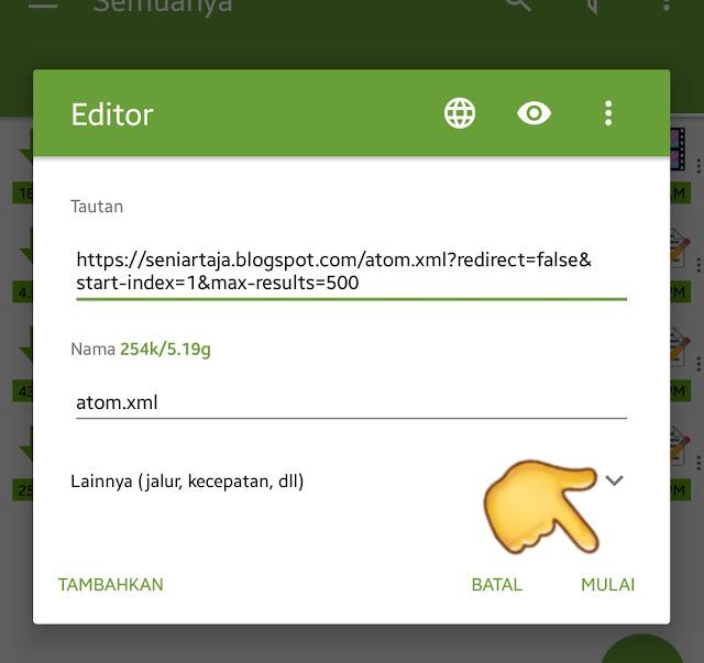 Cara Mendownload Script Atom xml di Mobile Smartphone Android