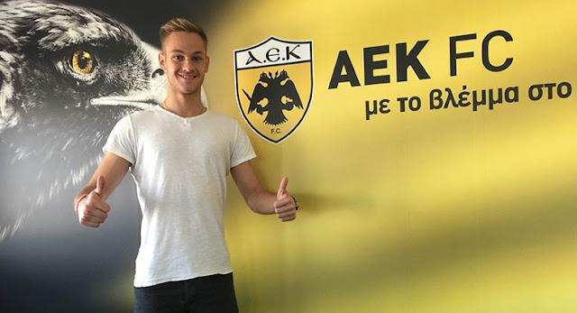 Επαγγελματικό συμβόλαιο με την ΑΕΚ υπέγραψε ο τερματοφύλακας Γιάννης Παπαδόπουλος