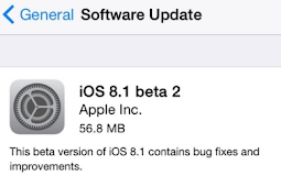 iOS 8.1 Beta 2 Telah Dirilis Untuk Developer