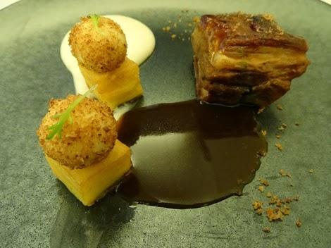 2 ème plat restaurant Sur Mesure par Thierry Marx au Mandarin Oriental.