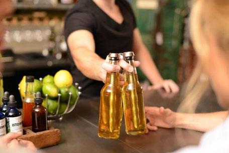 Tapón enfriador de botellas de cerveza.