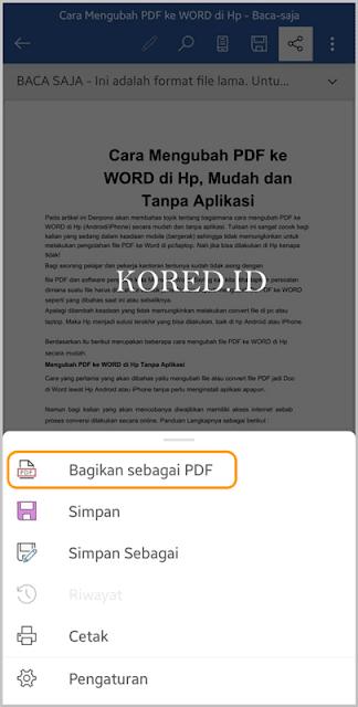 Cara Mengubah Word ke Pdf di HP Android atau iPhone