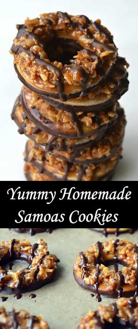 Yummy Homemade Samoas Cookies