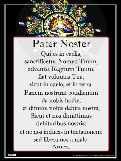 Risultati immagini per padre nostro latino