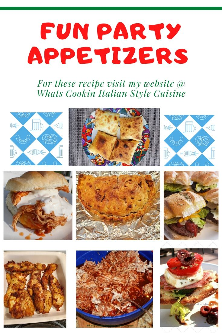 this is a round up of party recipes and appetizers