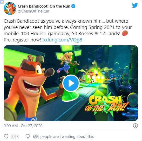 لعبة Crash Bandicoot المقرر إطلاقه في ربيع 2021
