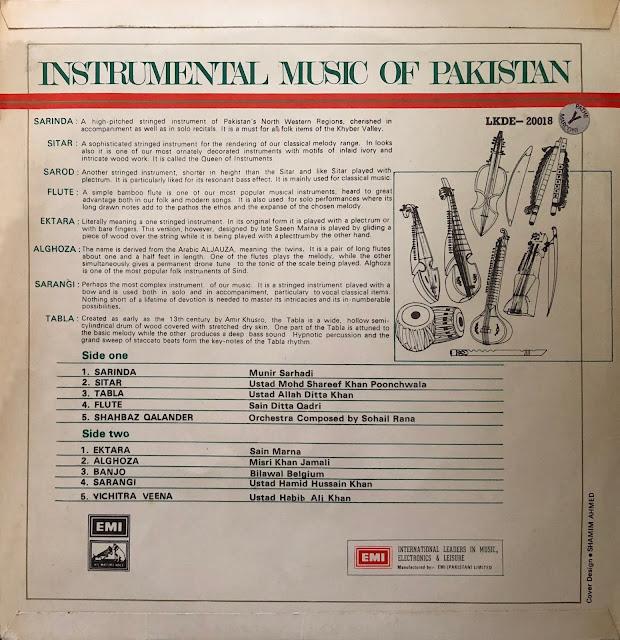 Hindustani Raga Indian music musique indienne sitar tabla sarod alghoza banjo sarangi sarinda flute iktara veena Poonchwala Munir Sarhadi Hamid Hussain Khan