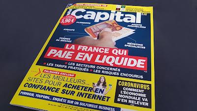 Couverture magazine Capital Meilleurs site e-commerce paramédical 2020
