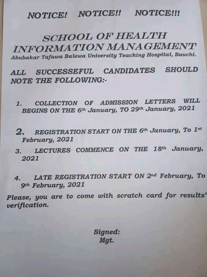 ATBUTH SHIM Admission List & Letter Collection 2020/2021