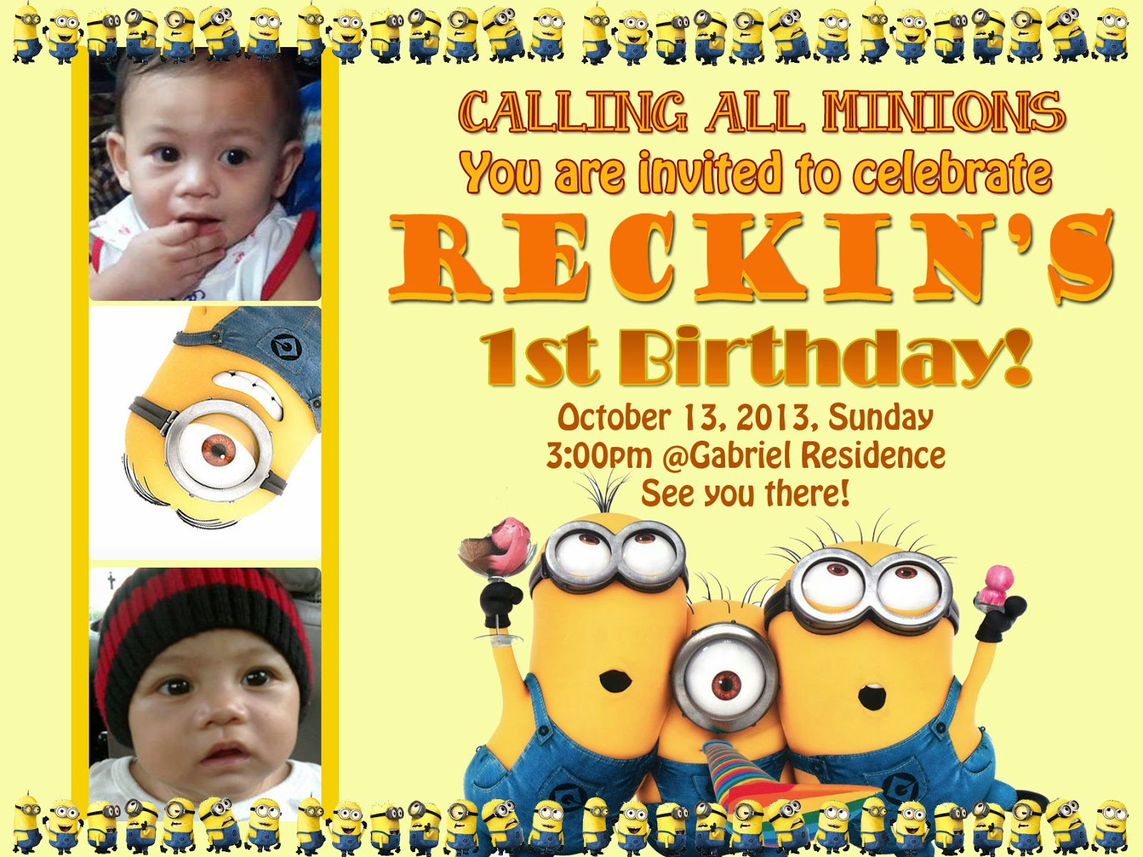 My Journey In Life Reckins 1st Birthday Invitation
