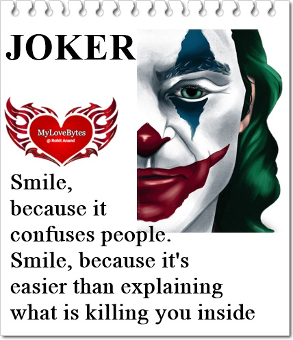 Top Joker Quotes On Crazy Love, Being Different in Love Relationships,joker quotes on friendship