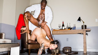 Cheating white girl Brenna Sparks fucks with a massive black dick