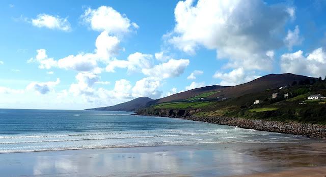 kaipuu, irlanti, irlantikaipuu, paluumuutto, ranta, hiekkaranta, Irlanti, Kerry, Inch Beach, vuoret, kaunis maisema