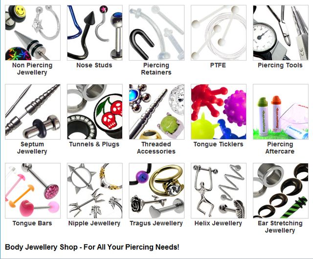 Jewelry Store Online Body Piercing