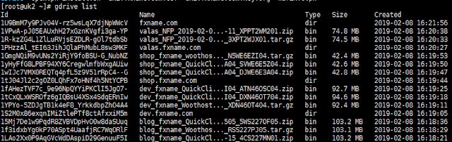 backup VPS ke Google Drive