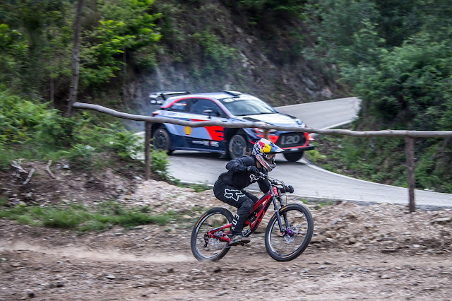 World Rally Car versus Mountain Bike