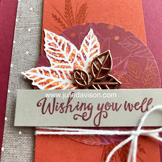 Stampin' Up! Gathered Leaves ~ Come to Gather Suite ~ Tie Dye Leaves ~ www.juliedavison.com