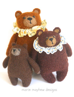 three woolly bears