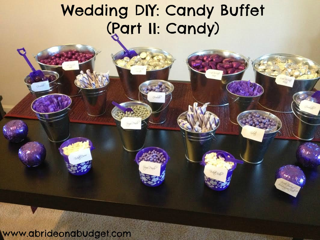 Planning a wedding candy buffet? Figuring out how much candy and chocolate is needed can be confusing. Get all the answers from www.abrideonabudget.com.