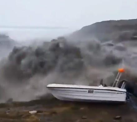 Τσουνάμι στην Γροιλανδία λόγω κατολίσθησης (video)