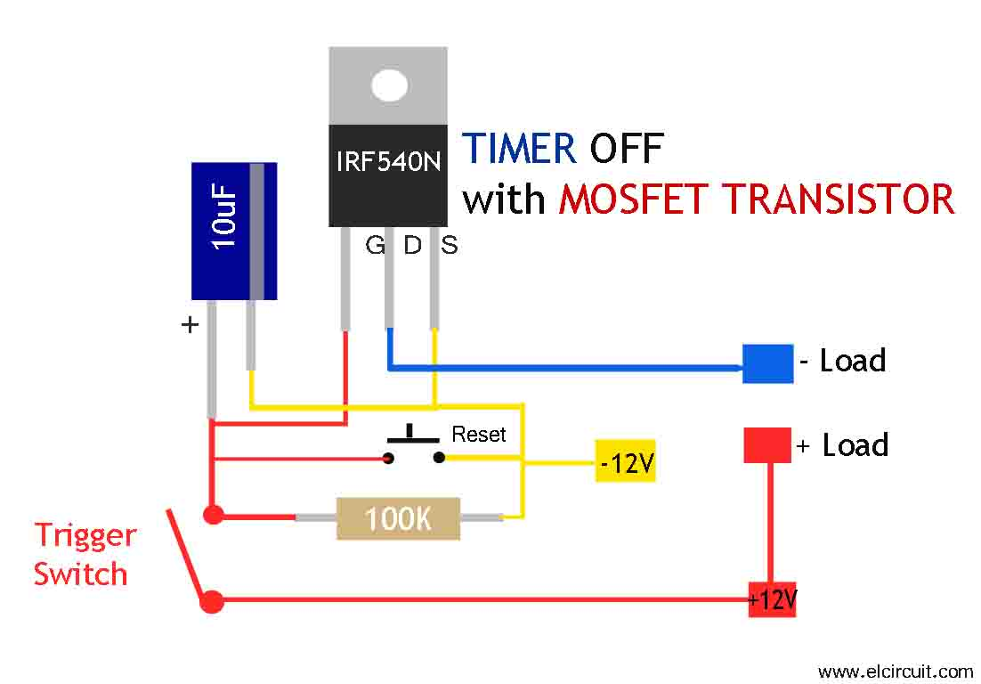 Transistor Contactor Wiring Diagram With Timer Attic Plumbing Mosfet Circuit Simple And Easy To Make Electronic