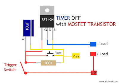 Mosfet Timer Circuit Simple and Easy to make