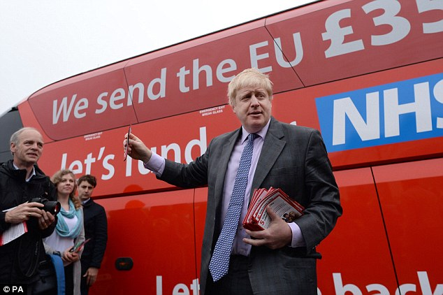 Boris Johnson Leave populism leave bus lie NHS Brexit