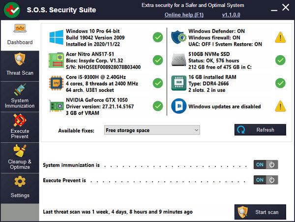 S.O.S Security Suite 1.3.7.0 Download Grátis