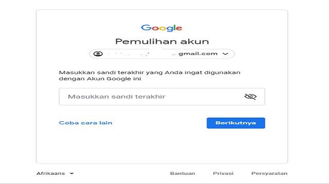 Cara Memulihkan Akun Google Lupa Sandi