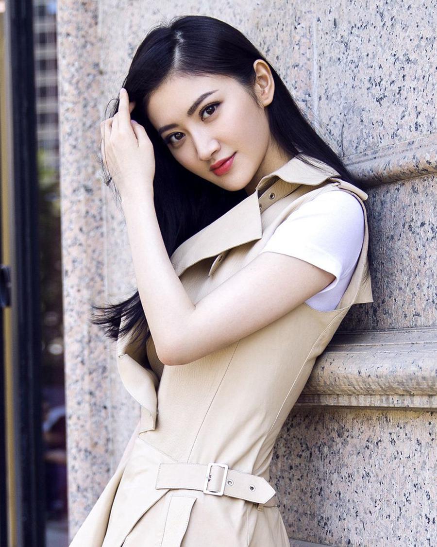Jing Tian cewek manis ran artis seksi rambut hitam panjang