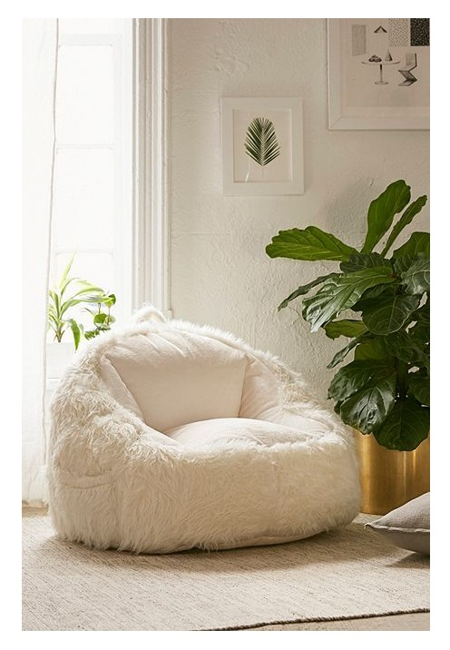 best light grey bean bag jumbo cord chooper faux sheepskin lounge chair for living and family room