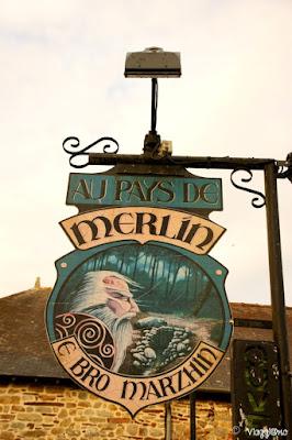 Il villaggio di Paimpont è legato alle leggende di Merlino