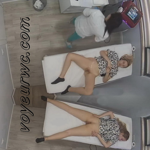 Hidden cam in the beauty shop (Intimate Waxing Albania 40-43)