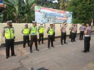 Personil Satlantas Polres Enrekang Lakukan Apel Pagi Dengan Baju Kaos Polisi, Ada Apa ?