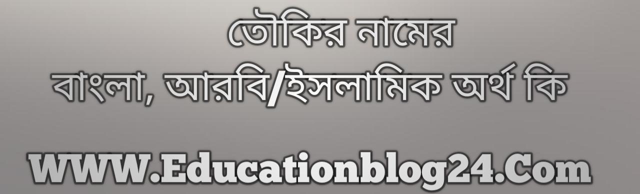 Tawkir name meaning in Bengali, তৌকির নামের অর্থ কি, তৌকির নামের বাংলা অর্থ কি, তৌকির নামের ইসলামিক অর্থ কি, তৌকির কি ইসলামিক /আরবি নাম