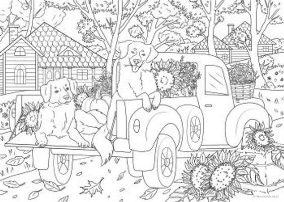 Dogs coloring pages 33