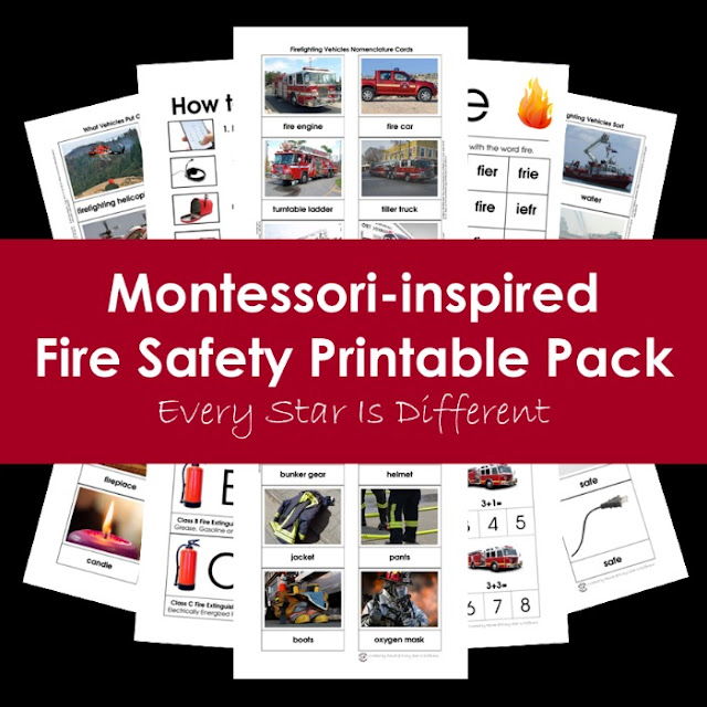 Montessori-inspired Fire Safety Printable Pack