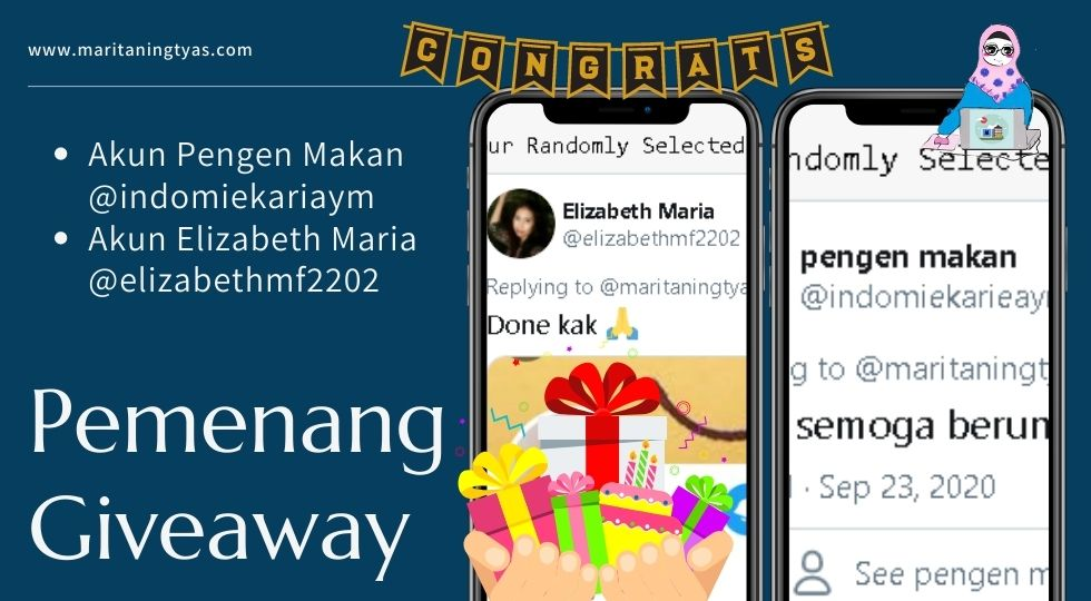 pemenang giveaway twitter maritaningtyas