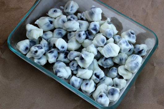 Frozen Yogurt-Dipped Blueberries Snack (Perfect for Summer Parties!) | Lille Punkin'