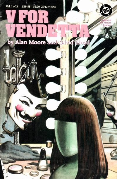 V for Vendetta #1 comic cover pic