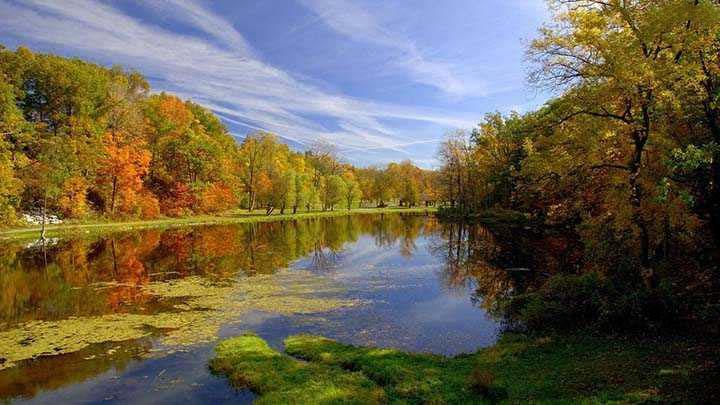 sonbahar resimleri akarsu manzaralı
