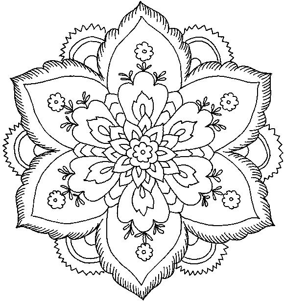 dessin fleur mandela