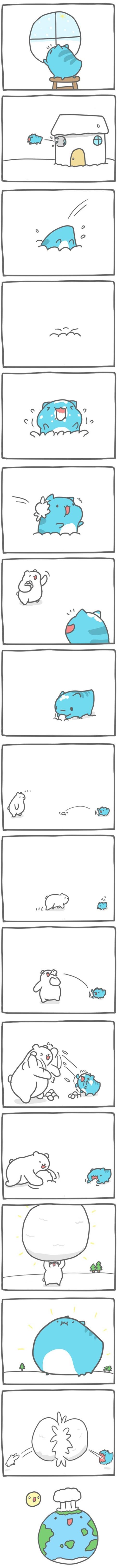 Truyện Mìn Lèo #87: Chơi ném tuyết