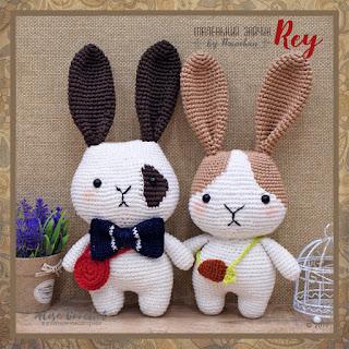 Rey маленький зайчик by Hain Сhan вязаный crochet Rey the little Bunny
