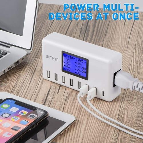 Slitinto 60W 12A 8-Port USB Charging Station
