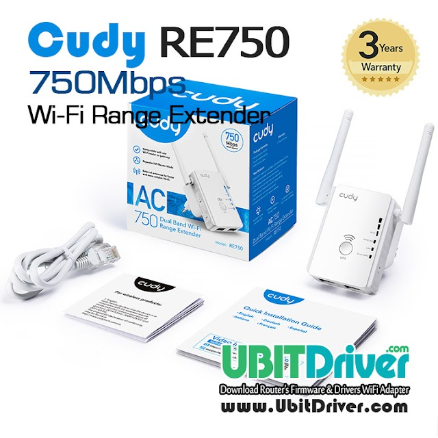 Firmware Cudy RE750 WiFi Range Extender 750Mbps