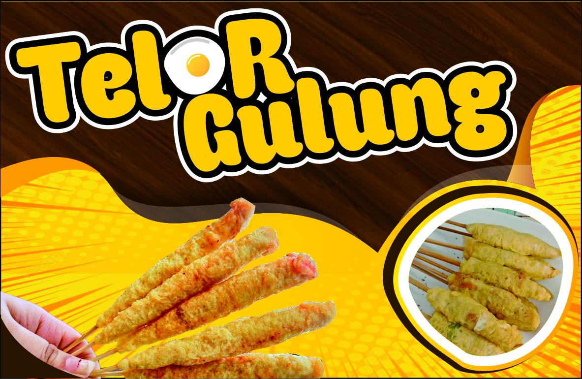 Contoh Banner Telur Gulung - desain spanduk keren