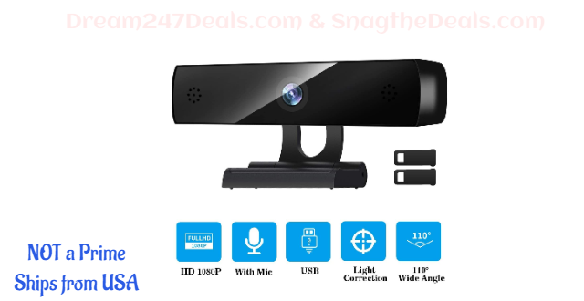 50% OFF  HD Webcam 1080p Streaming USB Computer Camera 30fps for Desktop Laptop Mac Video Conferencing with Microphone Mic