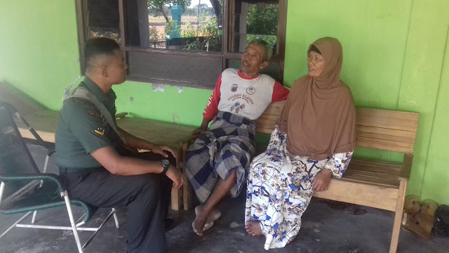 Babinsa Koramil 23/Ceper Anjangsana Ke Rumah Kbt Di Wilayah Binaan